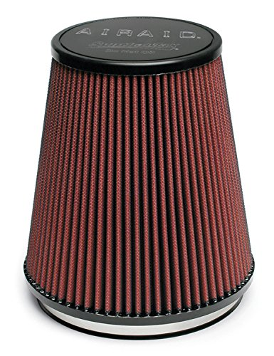 Airaid 701-462 Universal Clamp-On Air Filter: Round Tapered; 6 in (152 mm) Flange ID; 7 in (178 mm) Height; 7.25 in (184 mm) Base; 5 in (127 mm) Top