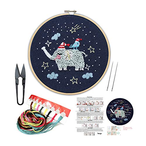 - Handmade Embroidery Kit Set with Instruction for Beginners -Goodnight Series Needlepoint Kits for Home Decor
