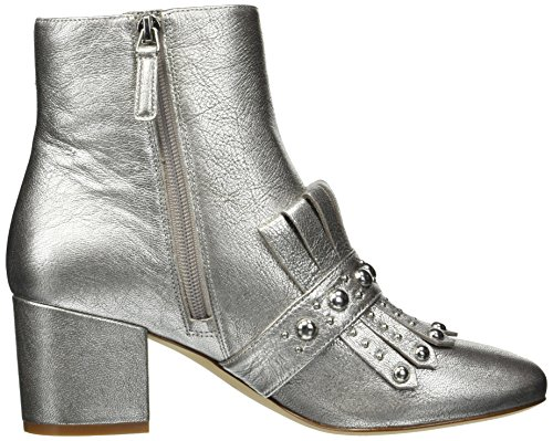 Boot Women's West Nine Metallic Silver Qamile Ankle 5zfaXnwq