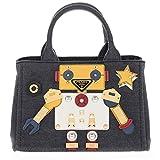 Prada Women's Denim Robot Satchel Bag Multicolor