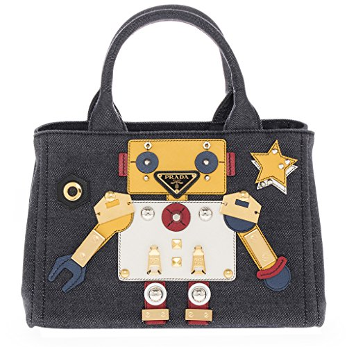 Robot Satchel Bag Multicolor (Prada Denim)