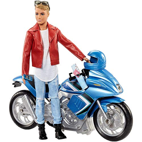 Barbie Pink Passport Ken Doll with Motorcycle (Ken Doll Accessories)