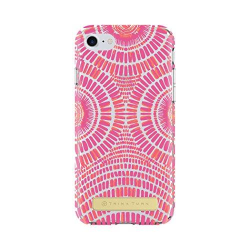 Trina Turk iPhone 7 Case, Translucent Case [Protective] Cover fits Apple iPhone 7 - Samba De Roda Pink/Clear