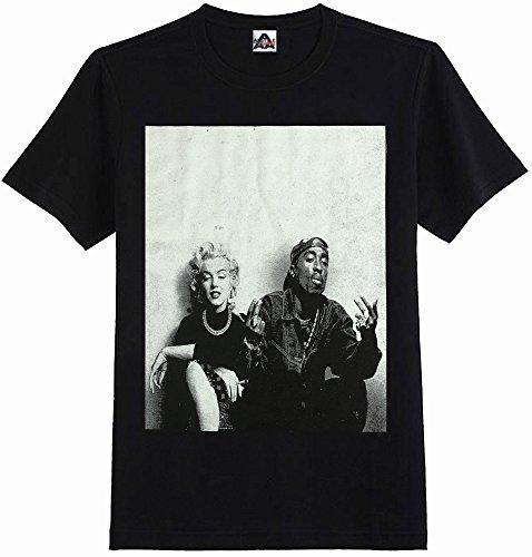 Hip Hop Legend Graphic T-shirts Tupac Marilyn Monroe Couple Logo New Edition - Hip Hop Legend