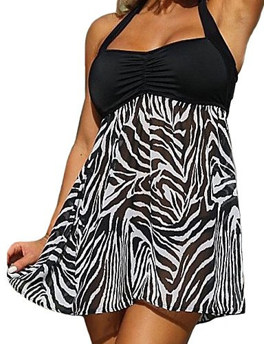 Animal Bandeau - WWQY Women's Bandeau One-piece,Floral Animal Polyester Black , m