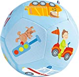 HABA 302482 Baby Ball Vehicle World Soft Toy Ball with Vehicle Motifs Baby Toy from 6 Months