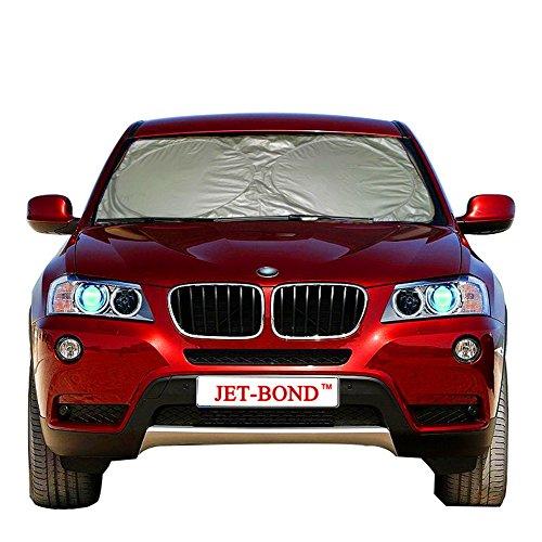 Jet-Bond QP04-1 Windshield Sun Shade UV Ray Deflector for Car Truck SUV Minivan Foldable Front Sun Protector Jumbo (63