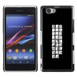 Be Good Phone Accessory // Dura Cáscara cubierta Protectora Caso Carcasa Funda de Protección para Sony Xperia Z1 Compact D5503 // different cude