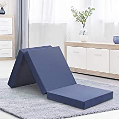 4-Inch tri-folding memory foam topper is the ideal option for visitors, sleepovers, car trips, camping or dorm room bed. Portable and comfortable mattress, No pain in the back or neck when people sleep on it. Complete with supportive memory f...