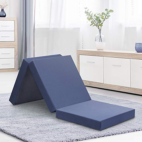 (Olee Sleep  Topper Tri-Folding Memory Foam, 4 Inch, Grey)