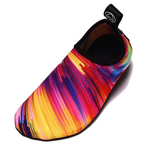 Equick Mujeres Zapatos De Agua Respirador De Secado Rápido Zapatos Deportivos De Piel Descalzo Calcetines Antideslizantes Multifuncionales Ejercicio De Yoga 1 Naranja