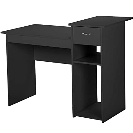 office furniture for small spaces cheap topeakmart black compact computer desk with drawer and shelf small spaces home office furniture amazoncom