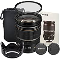 Canon EF-S 17-55mm f/2.8 IS USM Lens with Accessory Bundle for Canon EOS 60D, 70D, 80D, 77D, EOS Rebel T5i, T6, T6i, T6s - International Version