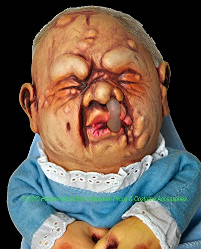 Scary Puppet Costume (BABY STINKY PUPPET Creepy Realistic Mutant DOLL Halloween Prop Costume Accessory)
