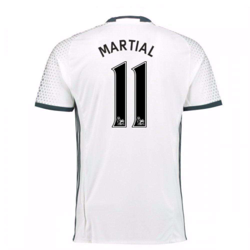 2016-17 Man Utd Third Football Soccer T-Shirt Trikot (Anthony Martial 11) - Kids