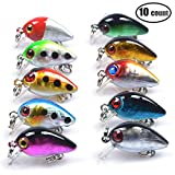 10pcs/lot Hard Minnow Fishing Lures Set Crankbait with Fishing Hooks Life-Like for Pikes Bass Trout Walleye Redfish ¡­