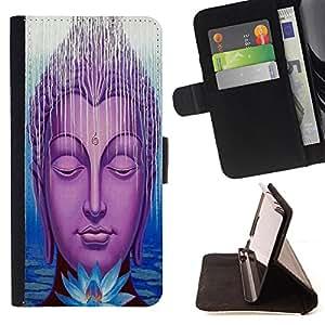 Super Marley Shop - Funda de piel cubierta de la carpeta Foilo con cierre magn¨¦tico FOR LG G3 LG-F400 D802 D855 D857 D858 - Buddha