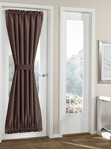 Elegance Blackout french door curtains/panel 54W by 40L - Dark Door Panel