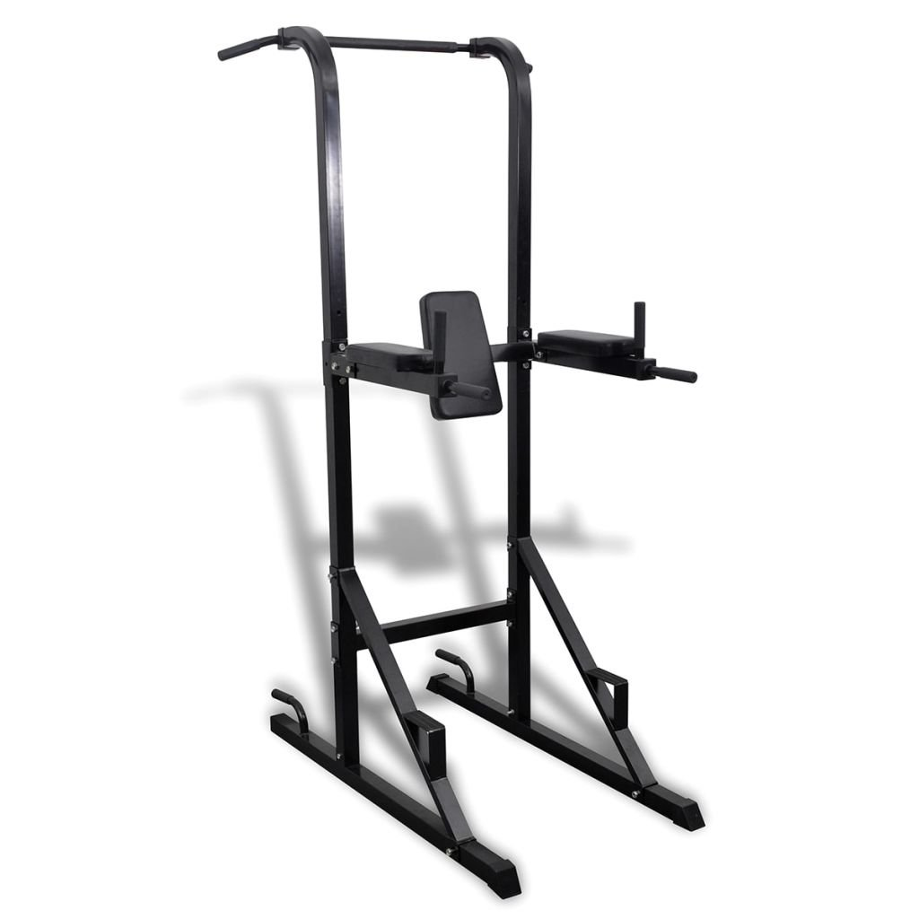 This Versatile Power Tower has Soft arm and Back Rests for Extra Comfort During Exercises by vidaXL