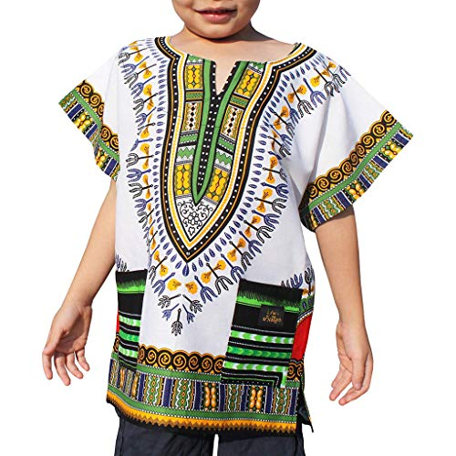 WOCACHI Boys Girls Kids Unisex Bright African Colour
