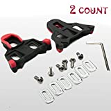 DEEBF 2 PCS Bike Cleats Compatible with Look Delta,Indoor Cycling and Road Bike Bicycle Cleat Set,Road Bike Cleats,Wrench Road Bike Pedals,Degree Float Pedal Cleats