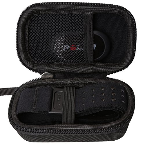 Aproca Hard Travel Storage Case Compatible Polar H10 / H7 Heart Rate Monitor Bluetooth HRM Chest Strap/Sensor & Fitness Tracker (Black)