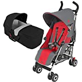 Maclaren Quest Sport Stroller With CarryCot - Charcoal Cardinal
