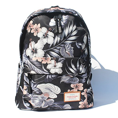 Original Floral Leaf Travel Backpack,Waterproof Gym Backpack Suitable for Travel,Gym,School,Shoping,Yoga,Hiking,Beach (I)