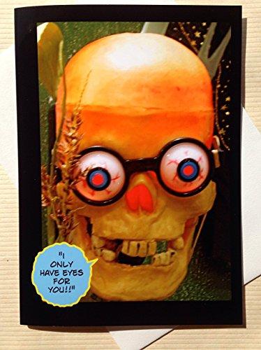 (Halloween Card - Funny Halloween Card - Monster Card - Funny Monster Card - Funny Skeleton Card - Seasonal Card - Funny Romantic Halloween)