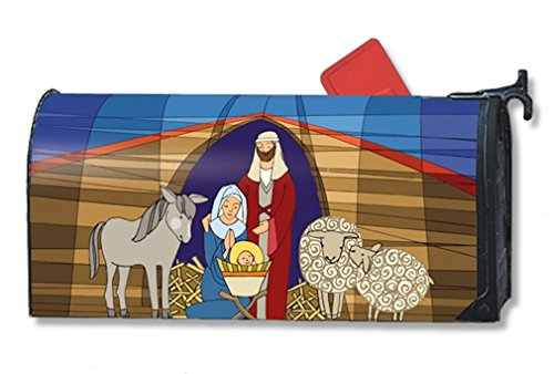 Stained Glass Yard Sign (MailWraps Stained Glass Nativity Mailbox Cover #01235)