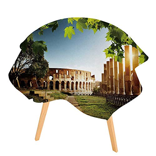 PINAFORE Round Tablecloth Colosseum in Rome Italy Waterproof Wine Tablecloth Wedding Party Restaurant 63