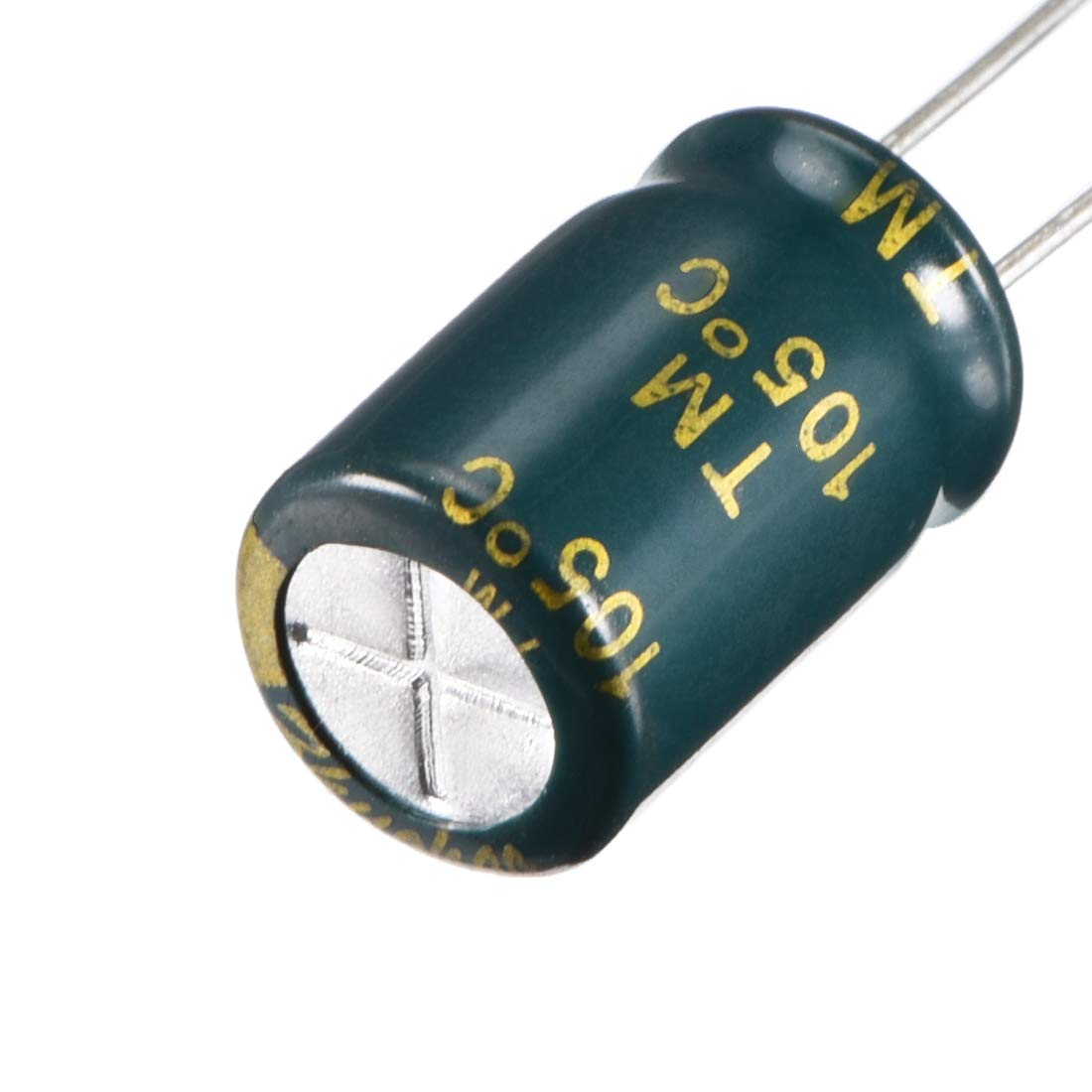 uxcell/® Aluminum Radial Electrolytic Capacitor Low ESR Green with 10uF 400V 105 Celsius Life 3000H 8 x 12mm High Ripple Current,Low Impedance 50pcs