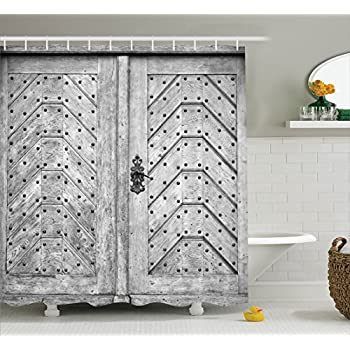 Wood Texture In Old Fashion Retro Style Horizontal Shower Curtain