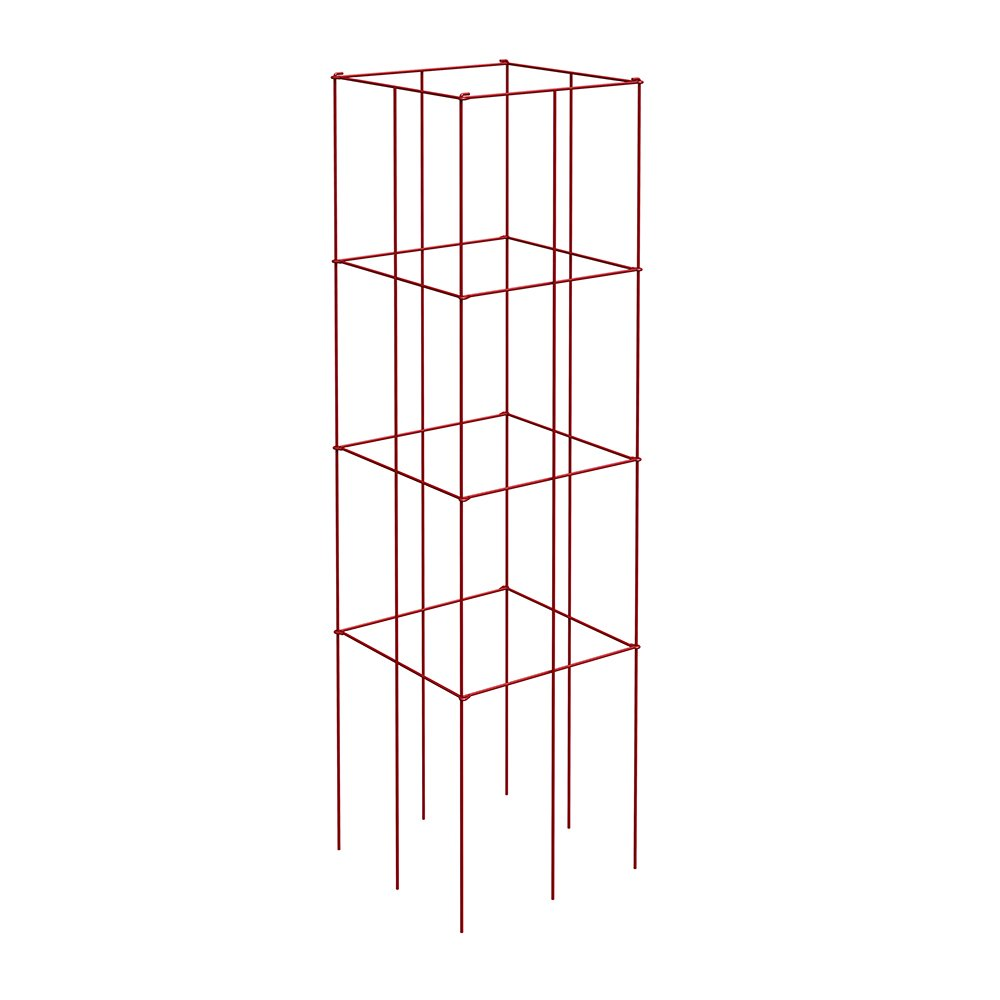 Panacea Products 89764 4-Panel Tomato and Plant Support Tower, Red (Pack of 1)