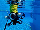 U.S. Navy divers conduct tests of the Video Ray, an underwater remote operated vehicle, during oper
