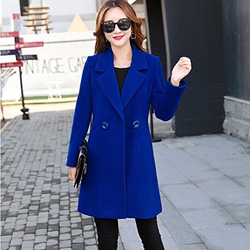 Like Cardigan Women Parka Blue Coat Tianya Overcoat Collar down Outwear Button Jacket Thicker Cashmere Slim Fit Clothes Turn gEU7S