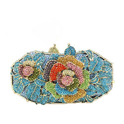 Sac Fleur Femmes De Diamant Pack E Banquet à Main Luxe Sac Soirée wYwFTfq