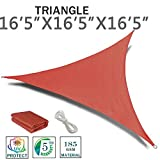 SUNNY GUARD 16'5'' x 16'5'' x 16'5'' Terra Triangle Sun Shade Sail UV Block for Outdoor Patio Garden