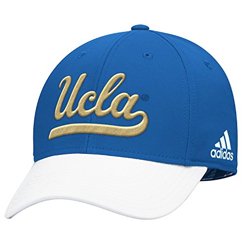 ADIDAS SLD FITTED BASEBALL HAT BLUE / WHITE WITH SCRIPT LOGO IN YELLOW M540Z (L/XL)