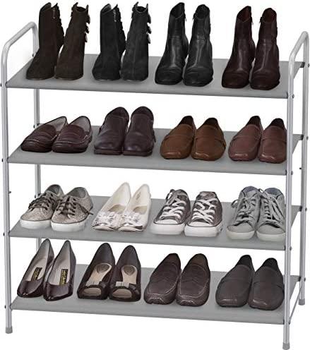 Simple Houseware 4-Tier Shoe Rack Storage Organizer 20-Pair, Grey