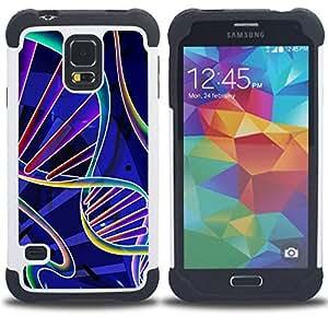 - science biology life scientist/ H??brido 3in1 Deluxe Impreso duro Soft Alto Impacto caja de la armadura Defender - SHIMIN CAO - For Samsung Galaxy S5 I9600 G9009 G9008V