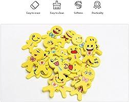 YueChen 36 x Emoji emoticon lápiz gomas borrar lindos, regalo de regalo para la fiesta de cumpleaños fiesta de los niños recompensa escolar fiesta en ...