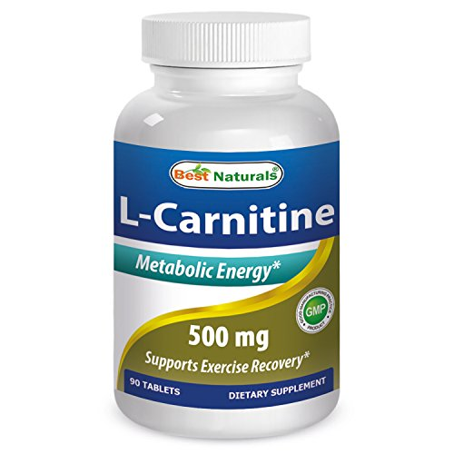 Best Naturals L-Carnitine Tartrate 500 mg 90 Tablets by Best Naturals
