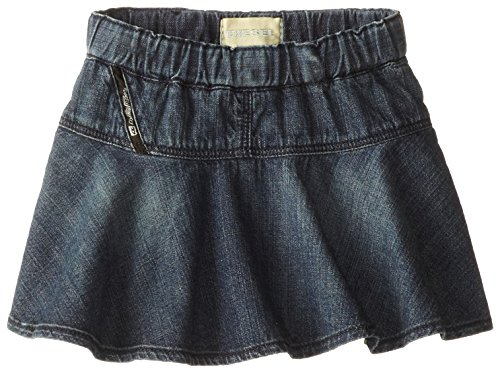 Diesel Baby Girls'' Graffyb Vintage Wash Denim Ruffle Skirt, Indigo, 24 Months