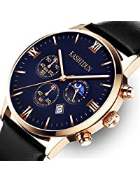 Mens Watches Luxury Sports Casual Quartz Analog Waterproof Wrist Watch Black Color ZH-JHP