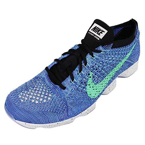 Nike Flyknit Zoom Agility Damen Spiel Royal / Green Glow / Schwarz Laufschuhe