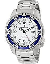 Momentum Mens 1M-DV06W00 M1 Deep 6 Analog Display Japanese Quartz Silver Watch