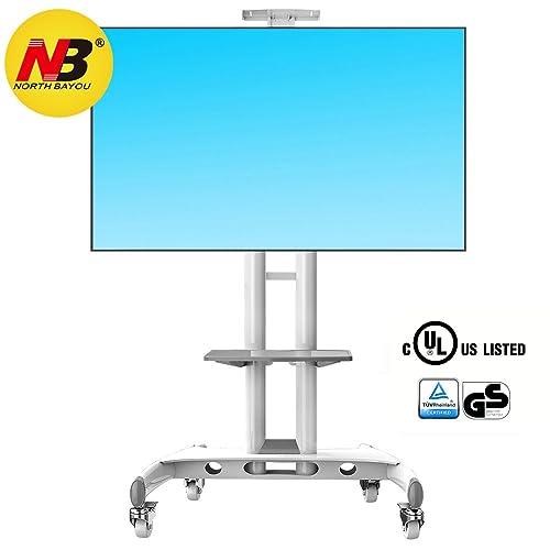 """Noth Bayou NB AVA1500-60-1P - Blanco El Soporte móvil de Suelo para Pantallas LCD, LED, Plasma y curvadas de 32"""" a 65"""" (81-165 cm) y hasta 45,5 kg"""