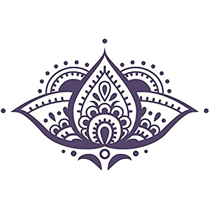 Lotus Flower Wall Decal Yoga Studio Vinyl Sticker Mandala Decals