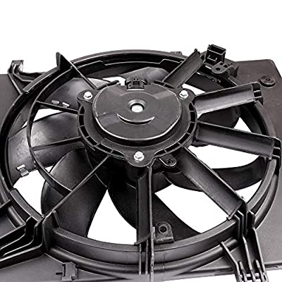 SCITOO Radiator AC Cooling Fan Assembly Compatible with 2011 2012 2013 2014 2015 2016 2020 Ford Fiesta FO3115186: Automotive